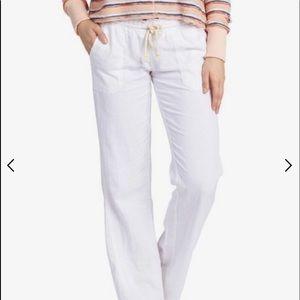 🆕 ROXY White Flare Drawstring Beach Pants